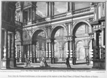 Giovanni Galli Bibiena, Atrio magnifico, Bozzetto di scena, 1740. Fonte: Univirtual