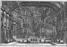 Giovanni Galli Bibiena, Scena teatrale in occasione degli sponsali del principe di Baviera, 1740. Fonte: Univirtual