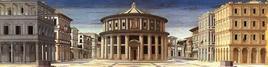 Anonimo, Città ideale, 1480-1490 circa, Galleria Nazionale delle Marche, Urbino. Fonte: Wikimedia Commons