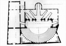 Teatro Olimpico, pianta 1776. Fonte: Wikimedia Commons