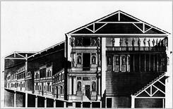 Sezione del Teatro Olimpico di Vicenza. Fonte: Wikimedia Commons