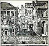 Sebastiano Serlio, La scena comica, 1545. Fonte: Italica