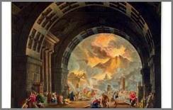 Alessandro Sanquirico, bozzetto per L'ultimo giorno di Pompei, 1827