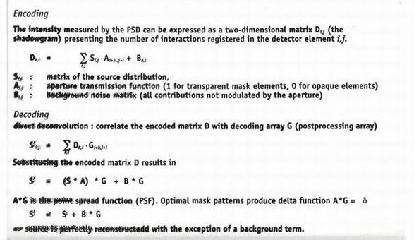 Imaging with coded masks is a process that requires deconvolution through the mask pattern. The deconvolved image may not be unique and an optimal mask design will minimize the degeneracy.