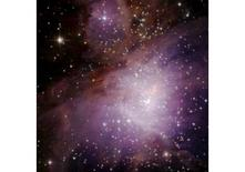 The star forming region in the Orion nebula. Optical image. Courtesy of NASA