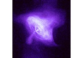 The Crab nebula in X-rays as imaged by the Chandra Observatory. The Supernova exploded in 1054 AD