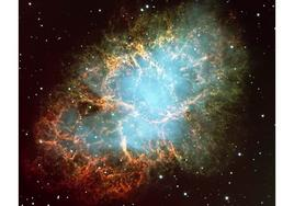 Crab nebula: believed to be the remnant of the supernova that went off in 1054 A.D.