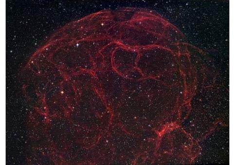 Very old (10,000s years) supernova remnants fade back into interstellar space enriching it with heavier elements