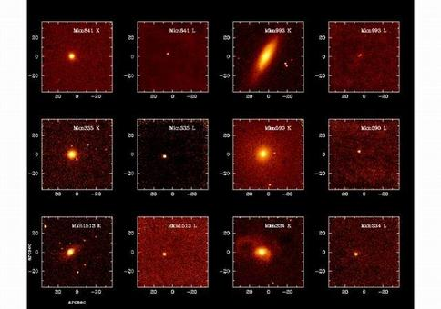 A compilation of Markarian galaxies, as seen from ground based telescopes.