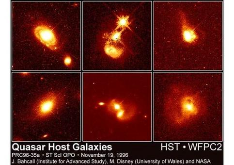 HST allows to reveal the host galaxies of Quasars, supporting the view that they are scaled up versions of fainter AGNs. Furthermore these objects are often in pairs or interacting galaxies.