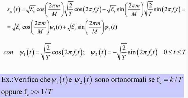 Rappresentazione geometrica dei segnali MPSK