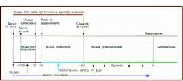 Figura 2. Diversa disponibilità di acqua nel suolo.
