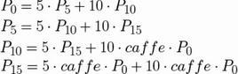 Esempio di definizione di termini in CCS per la macchina distributrice di caffè.