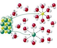 Interazioni fra l'acqua e un soluto ionico