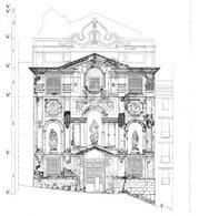 Napoli, chiesa di San Giuseppe a Pontecorvo,  rilievo materico con rappresentazione del degrado
