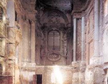 Il restauro iniziato negli anni 50 (A. Barbacci) utilizzando cemento armato, non fu completato
