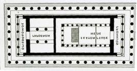 M. Colignon, Pianta del Partenone pericleo
