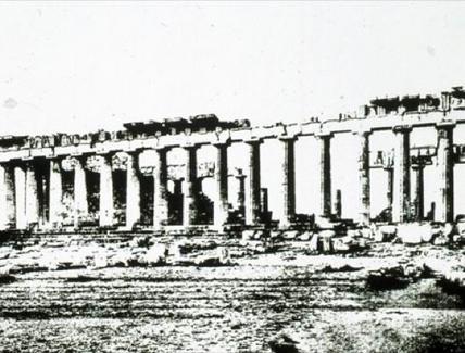 Il colonnato dopo i restauri di Balanos