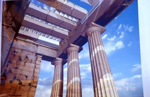Acropoli di Atene, ricostruzione virtuale dei propilei, 2001