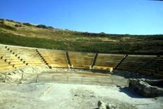 Eraclea Minoa, il teatro con l'intervento di Franco Minissi
