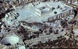 Veduta aerea dell'Acropoli di Atene