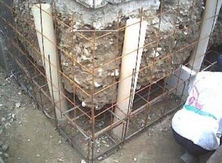 Ampliamento fondazionale con cordolo in cemento armato