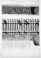 Disposizione della passonata sul fondo dello scavo di fondazione. Fonte: G. Valadier, Manuale di Architettura pratica, Roma 1828-39, tav. IV