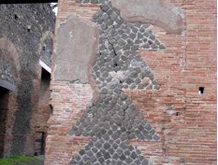 Pompei, particolare di murature miste