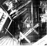 Palazzina di Stupinigi: vista della struttura lignea della copertura