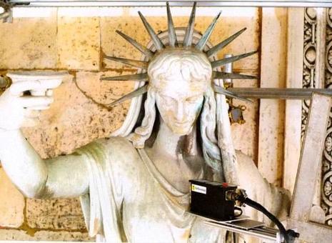 Milano, Duomo: il restauro della facciata, analisi chimica dei materiali sulla Statua della Legge Nuova mediante spettometria di fluorescenza di raggi X (2004)