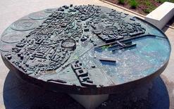 Pola, Croazia, modello tattile della città