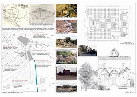 Elaborati relativi al superamento delle barriere architettoniche redatti nell'ambito del Laboratorio di Restauro dell'Architettura prof. Renata Picone