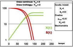 Figura 16 – Profili della figura 15 riportati in scala semilogaritmica.