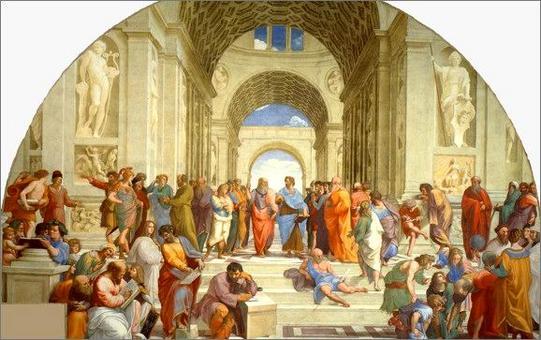 La scuola di Atene. Raffaello Sanzio