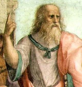 Platone. Particolare della Scuola di Atene di Raffaello Sanzio. Fonte: Wikipedia
