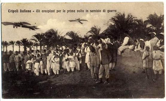 Tripoli italiana, gli aeroplani per la prima volta in servizio di guerra