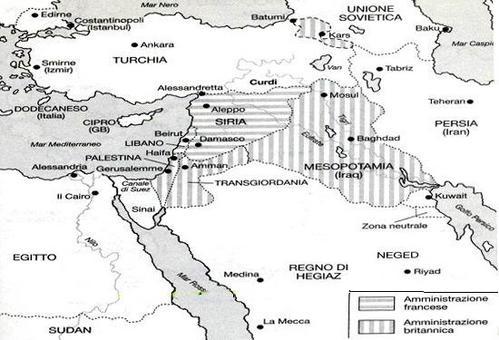 Il Mediterraneo orientale nel 1923