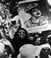 Una delle tante manifestazioni di giubilo in onore di Nasser nelle capitali arabe
