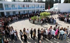 Elettori in fila per votare. Fonte: Palestina Felix