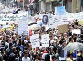 Manifestazione per il referendum costituzionale del 1 luglio 2011. Fonte: Sollevazione
