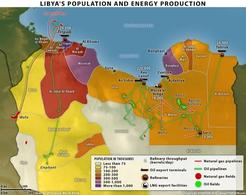 Libya's population and energy production. Fonte: Stratfor