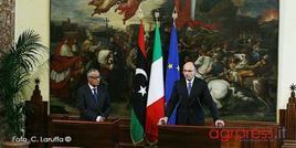 Letta e Ali Zeidan, conferenza stampa a Palazzo Chigi