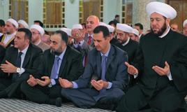 Bashar Assad in preghiera