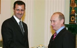 Bashar al-Assad con Vladimir Putin