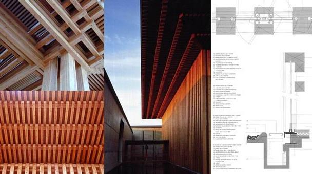 Tadao Ando, Tempio Komyo-ji-Saijo (della Terra Pura), Saijo, 2000. Immagini dello spazio esterno e interno e dettaglio degli infissi
