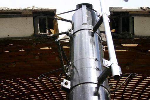 Collegamento tra la gridshell e il pilastro metallico