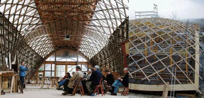 Edward Cullinan, Downland Gridshell per il Weald & Downland Open Air Museum, Sussex, 2002