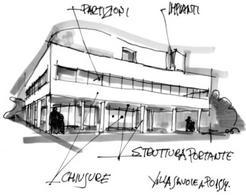 Ville Savoye, Le Corbusier, Poissy, 1929. Disegno: prof. Aldo Capasso