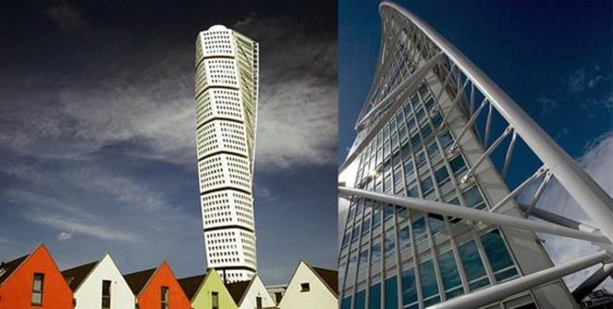 S. Calatrava, Turning Torso, Malmö, Svezia, grattacielo (190 m) residenziale, 1999-2005