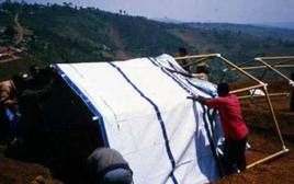 Paper Emergency Shelters for UNHCR – Byumba Refugee Camp, Rwanda, 1994